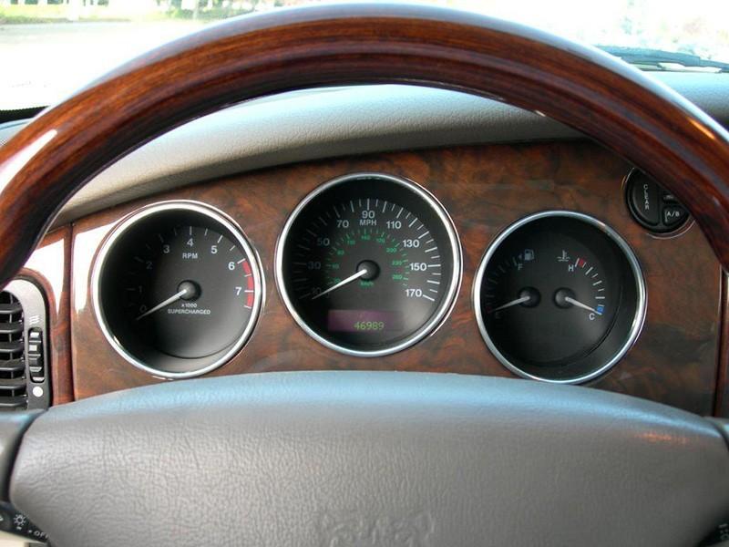 Aluminium instrument ring kit Jaguar XJ X308