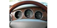 Cerclages de compteurs en aluminium Jaguar XJ X308