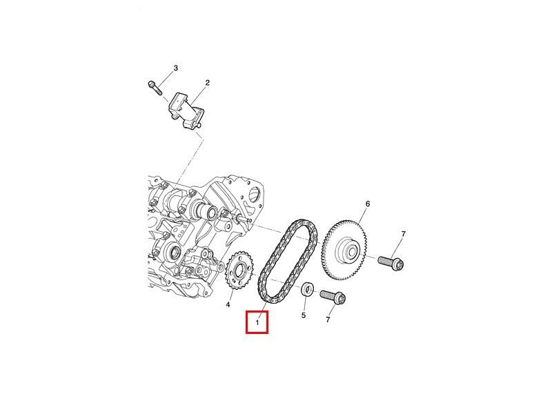 Secondary timing chain EAZ1286 Jaguar V8