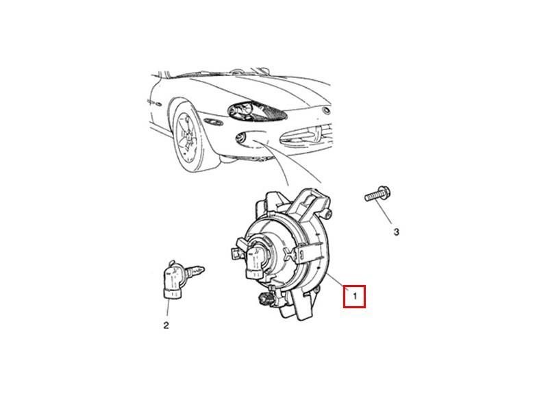 Feu antibrouillard Jaguar XK8 et XKR