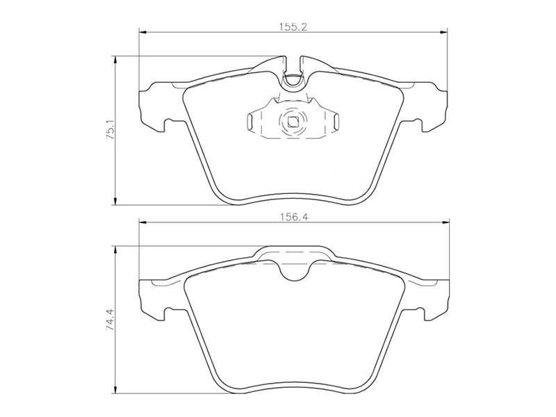Plaquettes de frein avant C2Z14096 Jaguar XJ X351 5.0