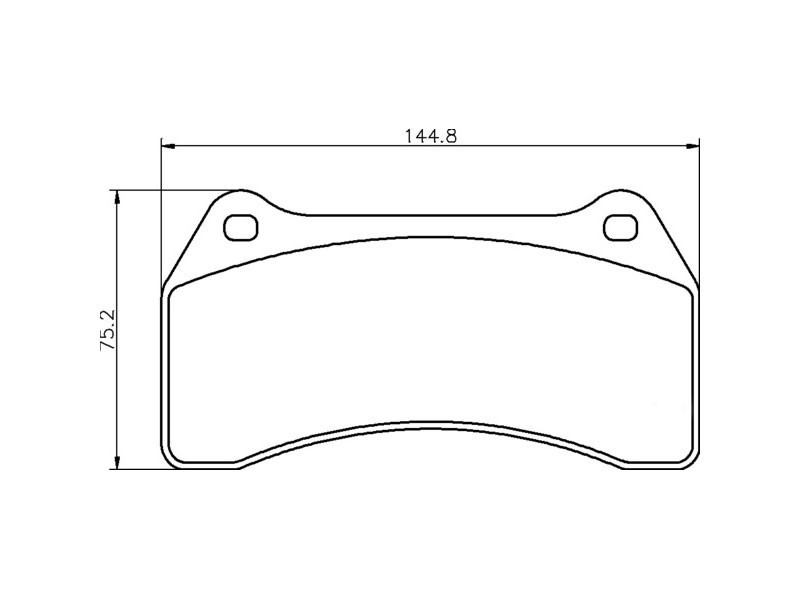 Front brake pad set C2C24018 Jaguar XJR X350 / S-Type R