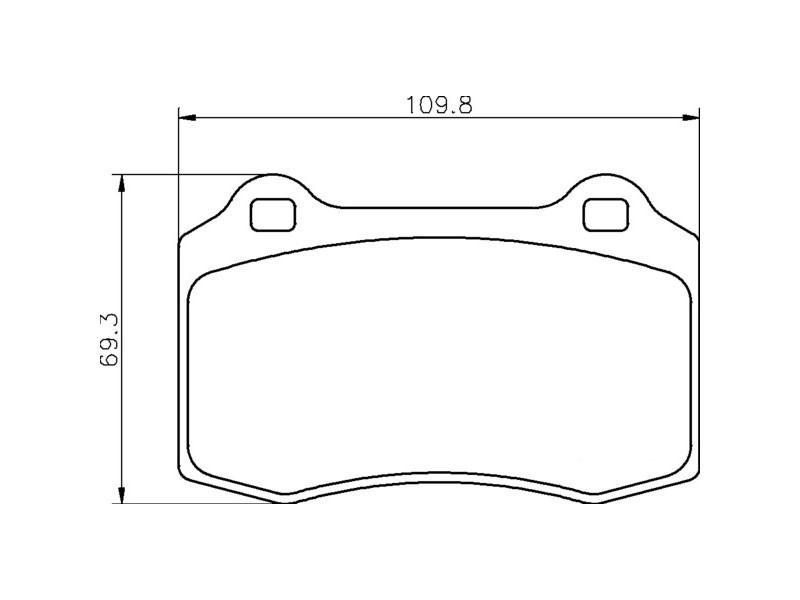 Plaquettes de frein arrière C2C24016 Jaguar XJR X350 / S-Type R