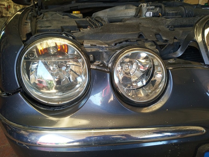 Headlamp Jaguar S-Type RHD