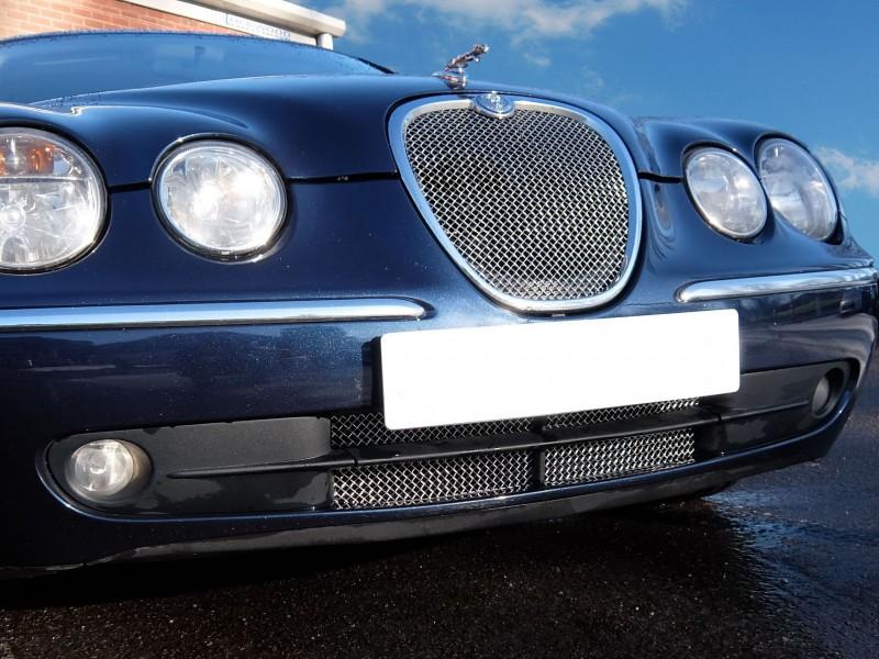 Grille inférieure simple Jaguar S-Type de 2004 à 2007