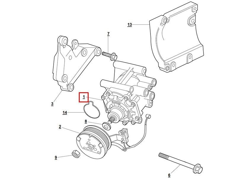 AC Compressor Jaguar X308 / X100