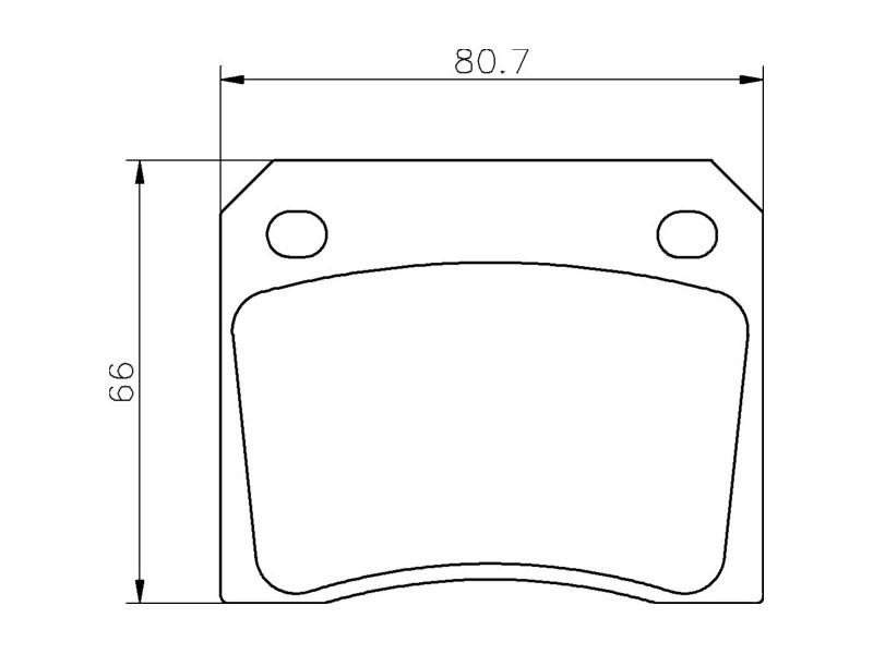 Plaquettes de frein arrière Aston Martin DB6 / DB7 / Virage / V8 / Vantage