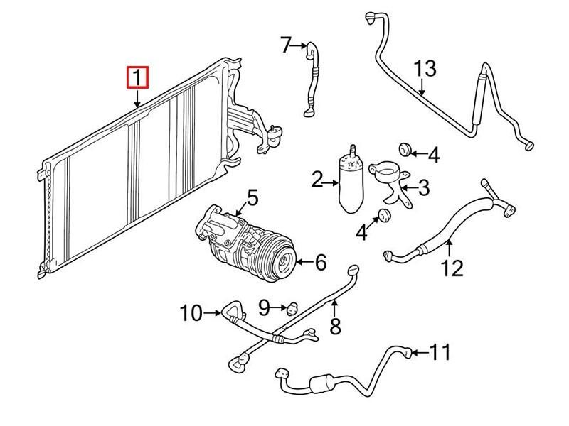 Condenseur de climatisation Jaguar XK8