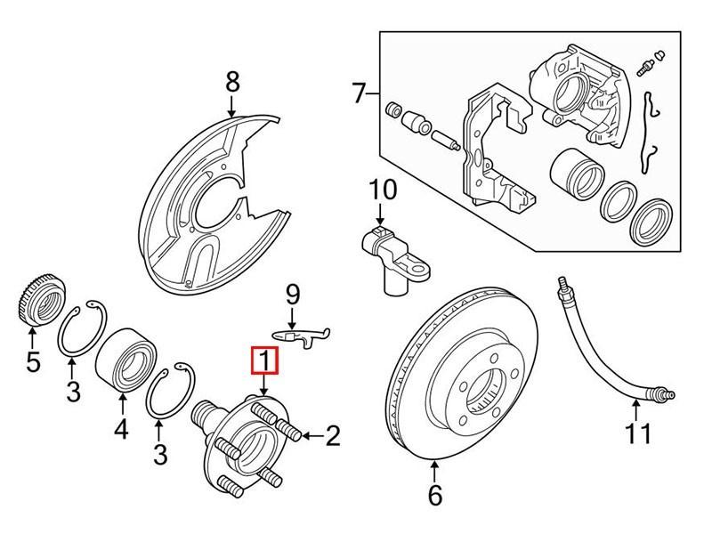 Front Wheel Hub Mnc1837bb Jaguar Xk8